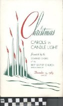"Image of ""Christmas Carols in Candle Light"" program"