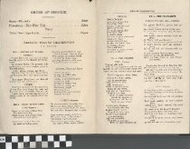 """Image of """"Song of Thanksgiving"""" program, back"""