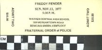 Image of Freddy Fender ticket stub, 1977