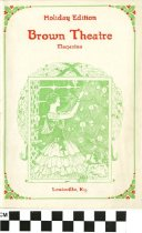 Image of Brown Theatre Magazine Holiday Edition (front), 1927