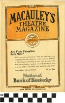 Image of Macauley's Theatre Magazine 1923 (front)