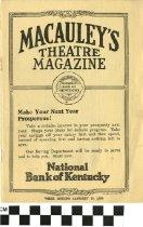 Image of Macauley's Theatre Magazine, Jan 20 1923