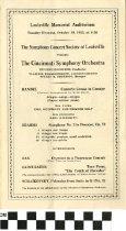 Image of The Cincinnati Symphony Orchestra program, 1935
