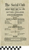 Image of The Social Club program, 1875