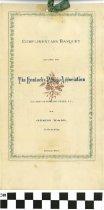 Image of The KY Press Association Banquet program, 1879