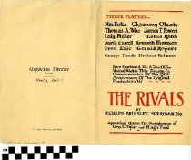 "Image of ""The Rivals"" play program"