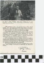 Image of 1982 Alice Lloyd presidential message