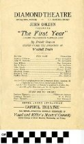 "Image of ""The First Year"" play program"
