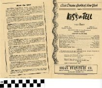 "Image of ""Kiss and Tell"" play program"