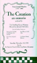 """Image of """"The Creation"""" musical program"""