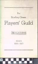 Image of Bowling Green Players' Guild program, 1937-1937 front