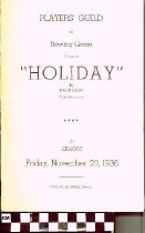"Image of ""Holiday"" play program, 1936"