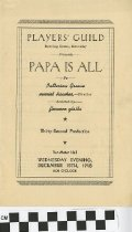 "Image of ""Papa Is All"" play program"
