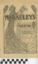 Image of Macauley's Theatre Magazine, 1905