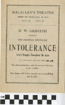 "Image of ""Intolerance"" play program, second copy"