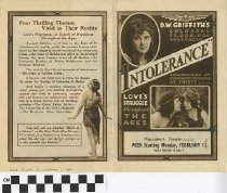"Image of ""Intolerance"" play program, front"