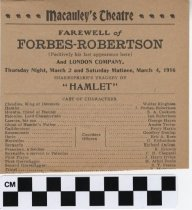 Image of Macauley's Theatre program