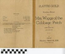 "Image of ""Mrs. Wiggs of the Cabbage Patch"" play program, 1936, front"