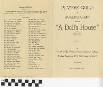 "Image of ""A Doll's House"" play program, 1937, front"