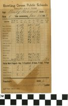 Image of Bowling Green Public School Report Card 1909 back