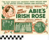 "Image of ""Abie's Irish Rose"" play program, back"