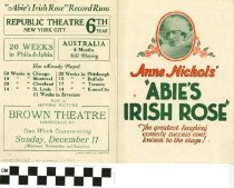 "Image of ""Abie's Irish Rose"" play program"