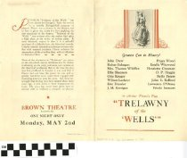 "Image of ""Trelawny of the Wells"" play program"