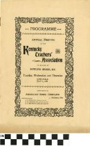 Image of KTA program, 1897 (front)