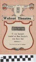 Image of Walnut Theater Program