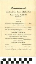 Image of Bowling Green Senior High Commencement program, 1948