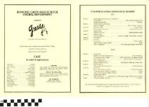"Image of ""Grease"" play program, back"