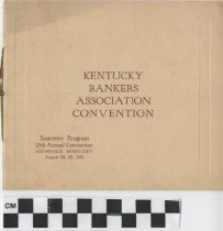 Image of Kentucky Bankers Association Convention program