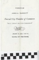 Image of Central City Chamber of Commerce Annual Banquet program