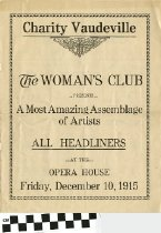 Image of The Womans Club program 1915