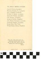 Image of Ye Jolly Book Lovers Dinner (back) 1938