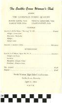 Image of Louisville String Quartet Concert program, 1954