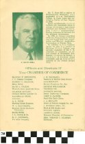 Image of Boots and Saddle Club Dinner Meeting program (back), 1952