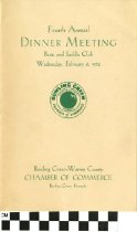 Image of Boots And Saddle Club Dinner Meeting program, 1952