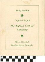 Image of Spring meeting program, 1948