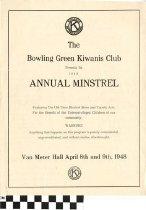 Image of 1948 Annual Minstrel Program