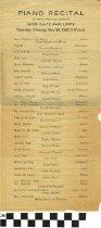 Image of Piano Recital program, 1920