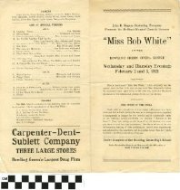 "Image of ""Miss Bob White"" play program, front"