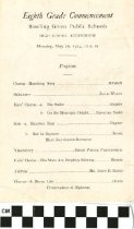 Image of Eigth Grade Commencement program, 1924
