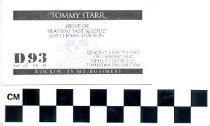 Image of Tommy Starr Business Card