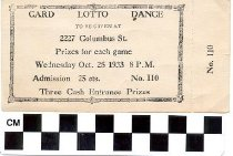 Image of Card Lotto Dance Ticket