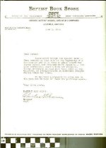 Image of Baptist Book Store Letter