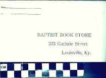 Image of Baptist Book Store Envelope