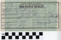 Image of Purchase Certificate
