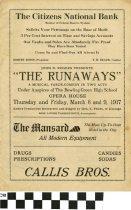 Image of The Runaways play program, 1917