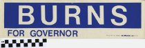 Image of Burns for Governor